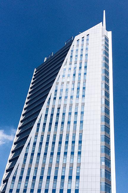 good weather building
