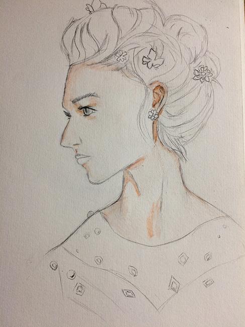 drawing girl画画
